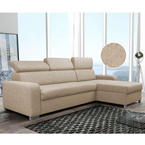 Corner Sofa Bed LAGUNA Beige