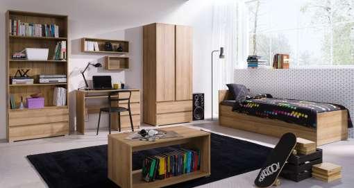 Bedroom Furniture Set COSMO Oak Riviera