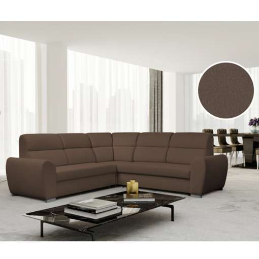 Corner Sofa Bed KENZO Brown