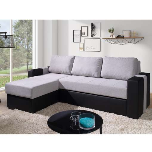 Corner Sofa Bed ADONNA-Grey