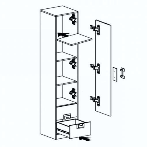 Narrow Cabinet NICO nr5
