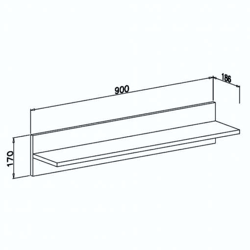 Wall Shelf APETITO nr11