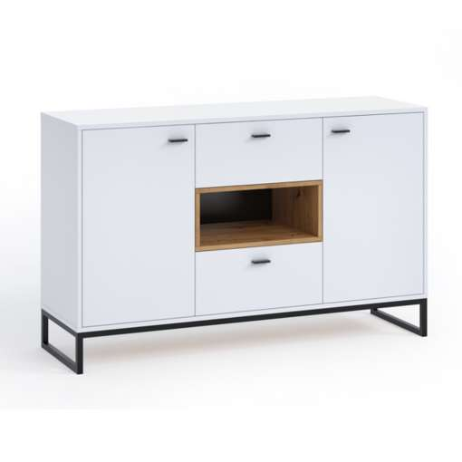 Living Room Furniture OLIVER 2 White + Oak Artisan