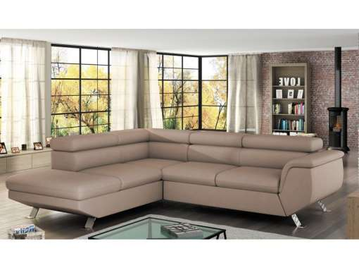 Corner Sofa Bed PHOENIX Left Beige Special Offer