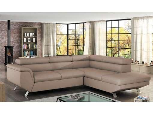 Corner Sofa Bed PHOENIX Right Beige Special Offer