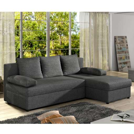 Corner Sofa Bed Gianni Dark Grey Special Offer
