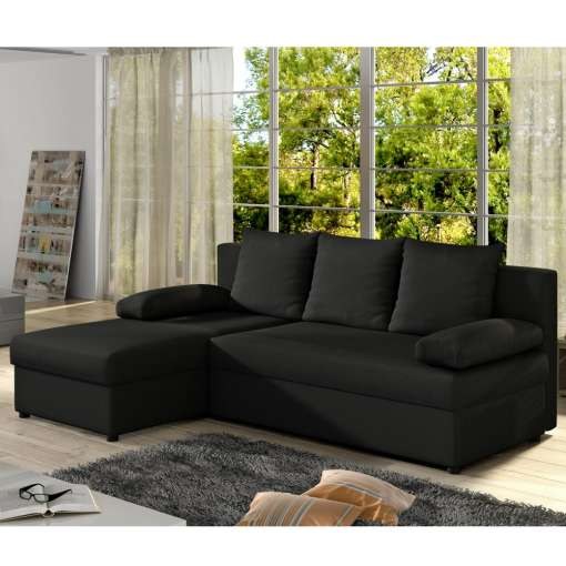 Corner Sofa Bed Gianni Black Special Offer