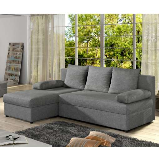 Corner Sofa Bed Gianni Grey Special Offer