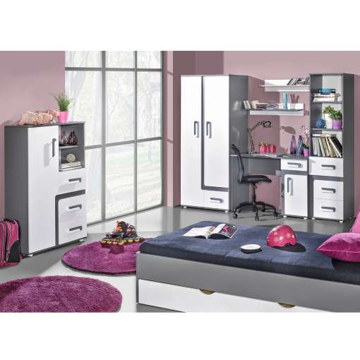 Youth / Kids Furniture Set APETITO 11- Anthracite / White