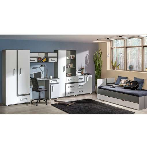 Youth / Kids Furniture Set APETITO 13- Anthracite / White