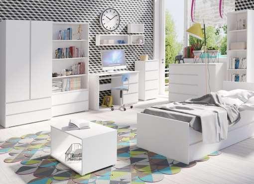 Bedroom Furniture Set 3 COSMO White