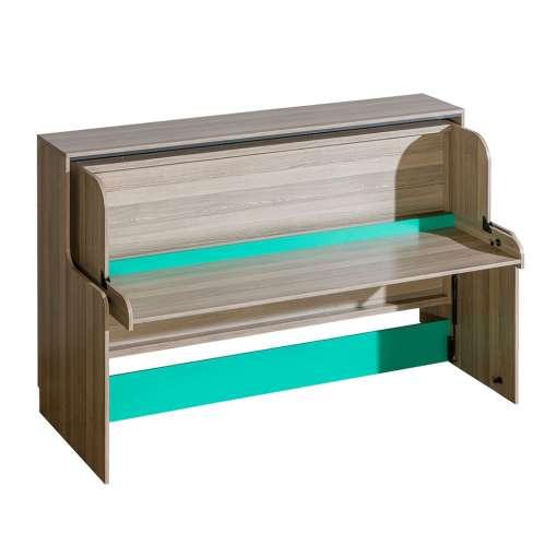 All In One Kids Furniture ULTIMO U16-Dark Ash Coimbra / Green
