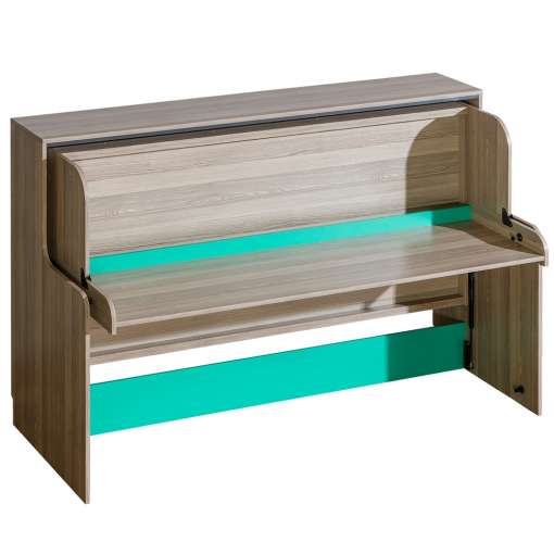 All In One Kids Furniture ULTIMO U16-Dark Ash Coimbra / Green