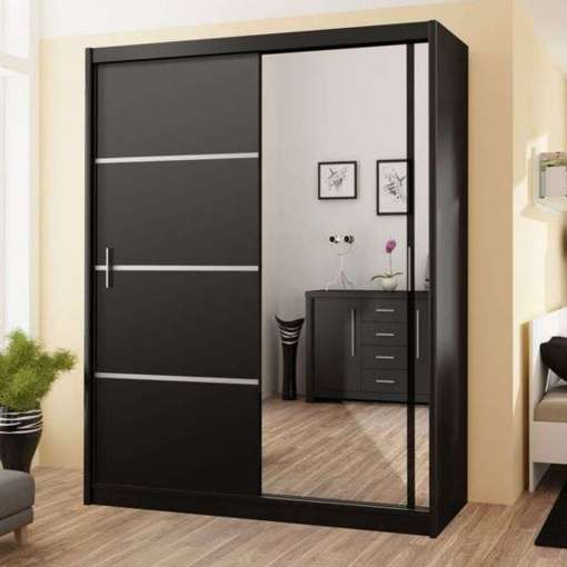 Wardrobe VISTA 180 Black