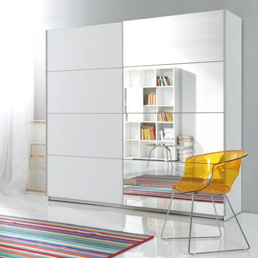 Wardrobe GAMMA 221 White + mirror