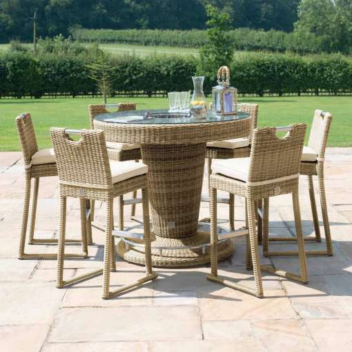 Winchester 6 Seater Round Bar Set - With Ice Bucket